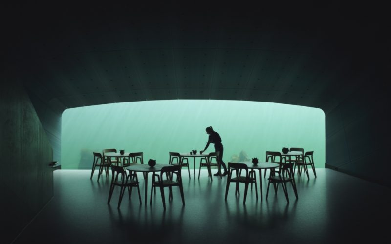 Restaurant UNDER - Fotograf: Ivar Kvaal